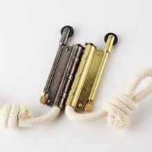 Briquet en métal pour lextérieur, Kit doutils de survie Portable, kérosène, feu coupe vent, corde en coton sans huile