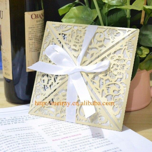 China wholesale die cut wedding invitation laser cut invitationsin