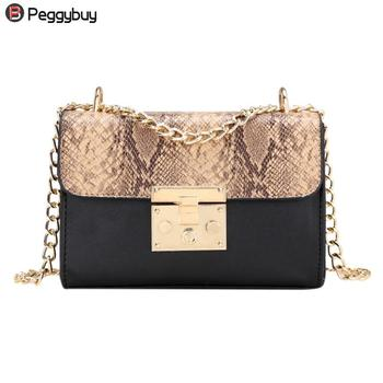 Fashionable Serpentine Woman Shoulder Bags Luxury leather Handbags Famous Brand Women Bags Designer Mujer Bolsas Messenger Bags