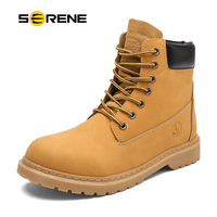 SERENE Mens Winter Snow Motocycle Boots Military Tactical Male Work Safety Desert Shoes Combat Timber Cowboy