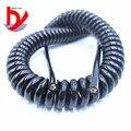 4-ядерный Спиральный шнур питания 20AWG 24AWG 17AWG 14AWG 2 5 m 5 m 7 5 m черный пружинный шнур питания для удлинителя