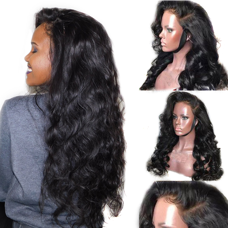 250 Density Lace Wig Body Wave Lace Front Wig 13x6 Lace Front Human Hair Wigs Brazilian Glueless Black Ever Beauty Remy Full End