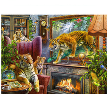 цена на tiger diamond Embroidery diy diamond painting mosaic diamant painting 3d cross stitch pictures H813