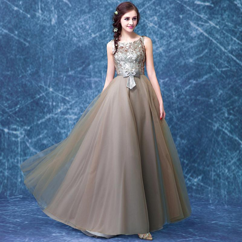 Fashion Long Evening Dress 2015 Sequined Off the Shoulder Robe De Soiree Sleeveless Organza Stain Vestido De Festa KW1172 in Evening Dresses from Weddings Events