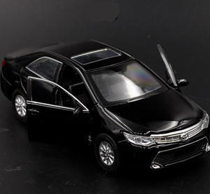Image 3 - 1:36 alloy pull back Toyota Camry model, high simulation 2 open door car toys, metal castings, toy vehicles, free shipping