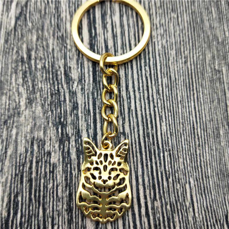 New Maine Coon Mèo Key Chains Thời Trang Pet Cát Đồ Trang Sức hợp thời trang Maine Coon Cat Xe Keychain Túi Keyring Đối Với Phụ Nữ người đàn ông