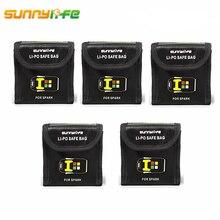 5 шт. для DJI Spark Lipo батарея огнеупорный чехол сумка для хранения взрывозащищенный безопасный термостойкий Ящик Протектор для DJI Spark Drone