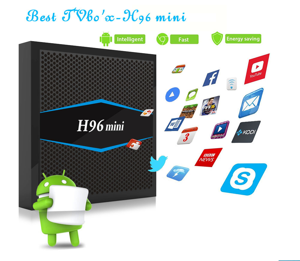 Canada Iptv Smart Tv Box H96mini 2g 16g 1 Year Sinotv Europe Arabic