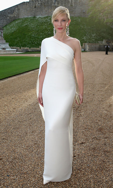Aliexpress.com : Buy Cate Blanchett One Shoulder White Party Dress ...
