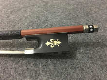 1PCS Brazilwood violin bow. Copper mosaic. Ebony tail base. Silver wire winding. Violin bow. #XG1601
