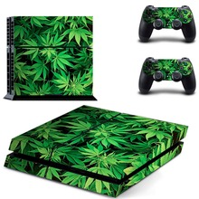 green leaves decal PS4 Skin Sticker For Sony Playstation 4 Console +2Pcs Controllers 15 pattern