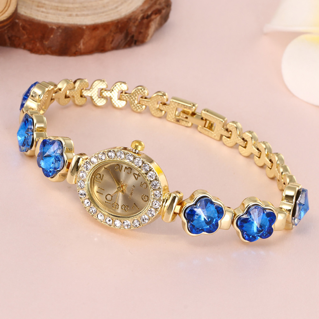 Best sale Women Round Full Diamond Bracelet Watch Analog Quartz Movement Wrist Watch minimalist lover 's watch relogio