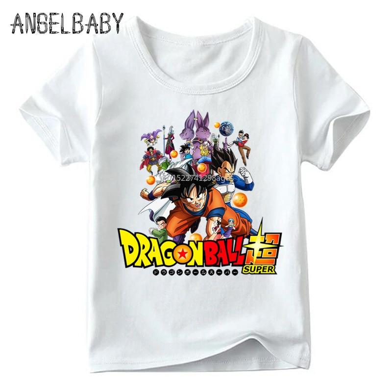 Anime Dragon Ball Z Character Print Children T Shirt Boys And Girls Summer Short Sleeve White Tops Kids Casual T-shirt,ooo5201