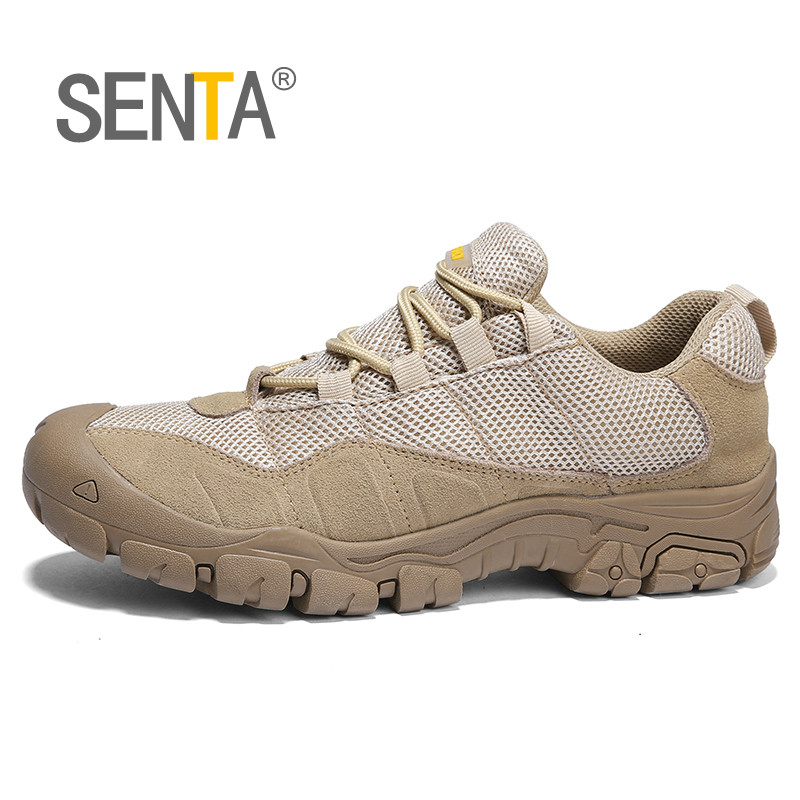 Genuine Leather Mesh Hiking Shoes Summer Outdoor Trekking Boots Trail Camping Comfort Mountain Climbing Outventure Hunting Shoes outventure складное ведро outventure 5 л