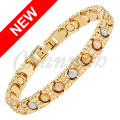 Channah 2017 Women 3-Tone Bracelet Magnetic Rose Gold Golden Silver Bangle Ladies Bowknot Jewelry Gift Free Shipping Charm