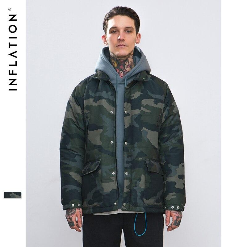 L'INFLATION 2018 Automne Camouflage Chaud Manteaux Outwear Hiver Veste Hommes Coupe-Vent Hommes Veste Chaud High Street Hommes Parkas 8745 w