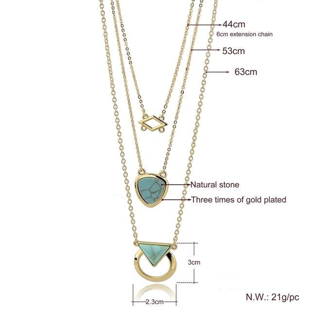 Фото chicvie каменное винтажное ожерелье с подвеской ювелирные изделия