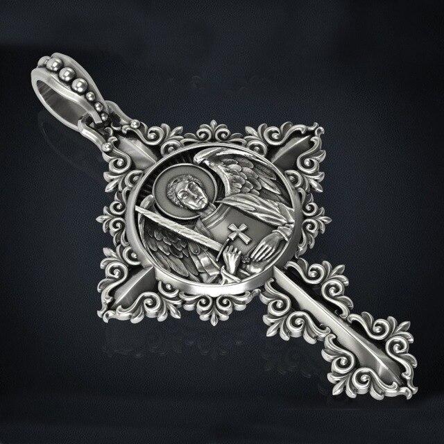 חדש צלב עם דפוסים מיכאל תליון שרשרת סנט סנט מיכאל מלאך מגן תפילה מדליית תכשיטי 12 pcs
