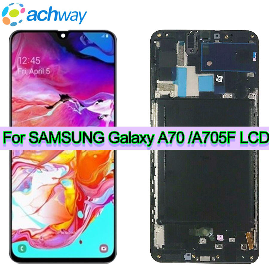 6 7For Samsung Galaxy A70 LCD A705 A705F SM A705F Display Touch Screen Digitizer Assembly A70