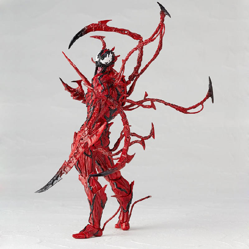 Revoltech Amazing Red Venom Carnage Amazing Captain America Spiderman Magneto Wolverine X-men Action Figures Toy Doll (57)