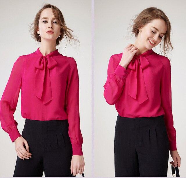 100% jedwab szyfon koszula, czysty, jedwab, szyfon, bluzki  TitBe