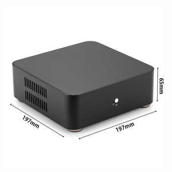 [USB 3.0 Version] RGeek Mini ITX Computer Case Aluminum PC Case Chassis HTPC With Power Supply
