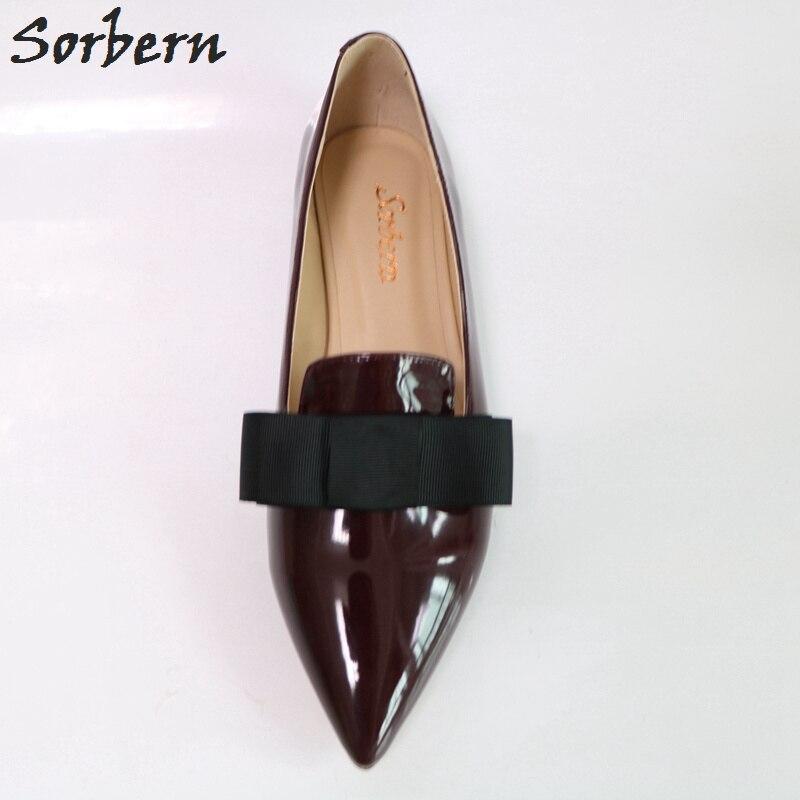 De vin Vin Plates Luxe Des Chaussures Custom Appartements Personnalisé Sur Femmes Color Sorbern Glissement 2018 Pointu Designer Rouge Brillant Bout 6dwWHCq