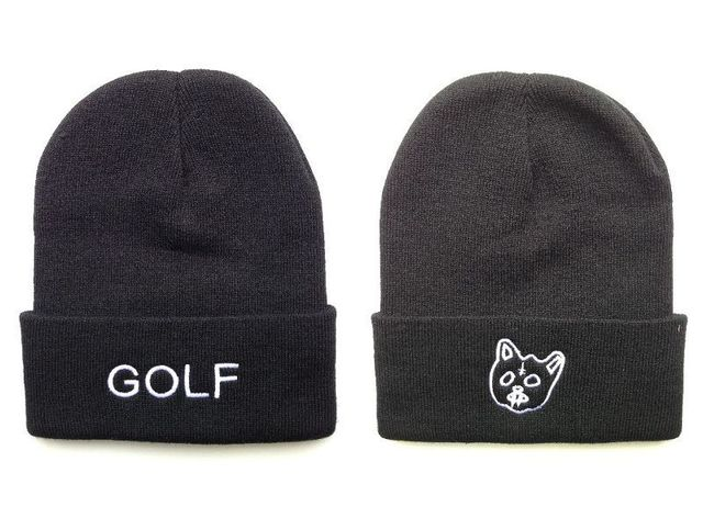 6f298246 New ODD Future Pussy Cat Golf Wang Skateboard Knitted Beanie Hat Cotton  Sports Caps Wang Golf Double Side Skullies Beanies Gorro