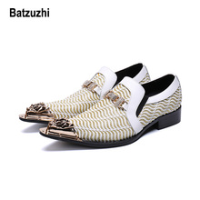 Batzuzhi Luxury Handmade Mens Dress Shoes Italian Zapatos Hombre Pointed Iron Toe Wedding and Party Men Formal,US12