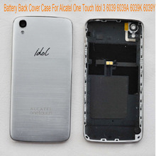"For Alcatel One Touch Idol 3 6039 6039A 6039K 6039Y Back Cover Case 4.7"" Smart Phone Back Housing Battery Case Cover Hard PC"