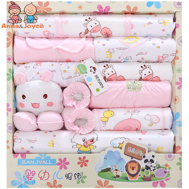 1suits Gift Boxes Cotton Baby Clothes Newborn Gift Boxes Summer Newborn Baby Sets Full Moon Maternal and Infant Supplie