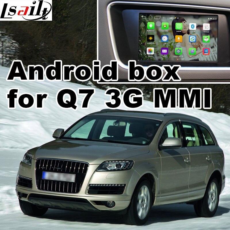 Android GPS навигации коробка для <font><b>Audi</b></font> Q7 3 г <font><b>MMI</b></font> система видео интерфейс коробка Зеркало Ссылка заднего вида 360 панорама quad Core