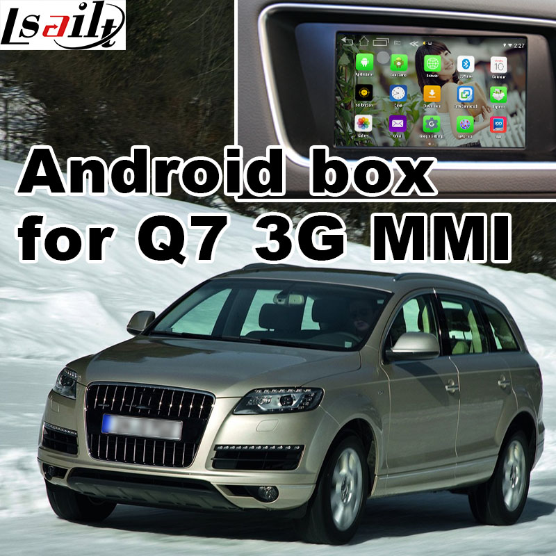 Android GPS navigation box for Audi Q7 3G MMI system video interface box mirror link rear