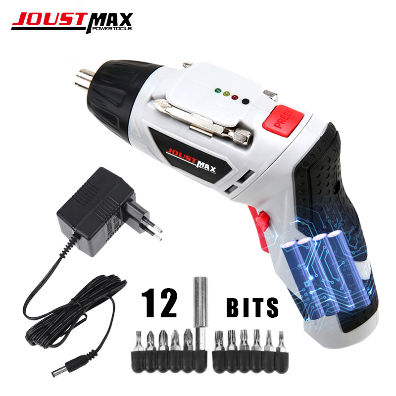 4.8V Mini Electric Screwdriver LED Light Cordless Drill Wireless Dremel With 15 Bits Lithium Battery Rechargeable Home Tools