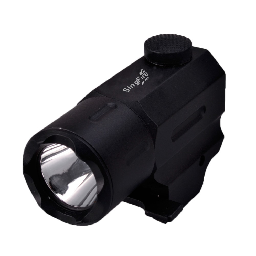 SingFire SF-P06 1W 250LM Q5 LED White 3-Mode Tactical Gun Flashlight - Black (1 x CR123) яр салатовый цв 793