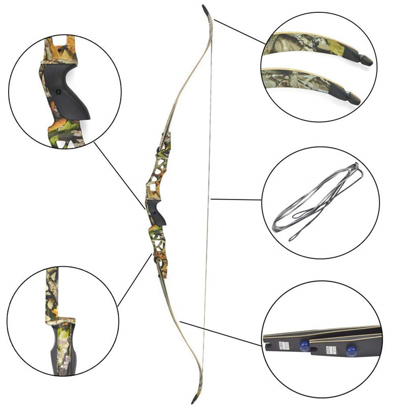 1pc 64 Inch Archery Recurve Bow F166 ILF Takedown Bow 30 60Lbs Shooting Hunting Outdoor Sports Accessory in Darts from Sports Entertainment