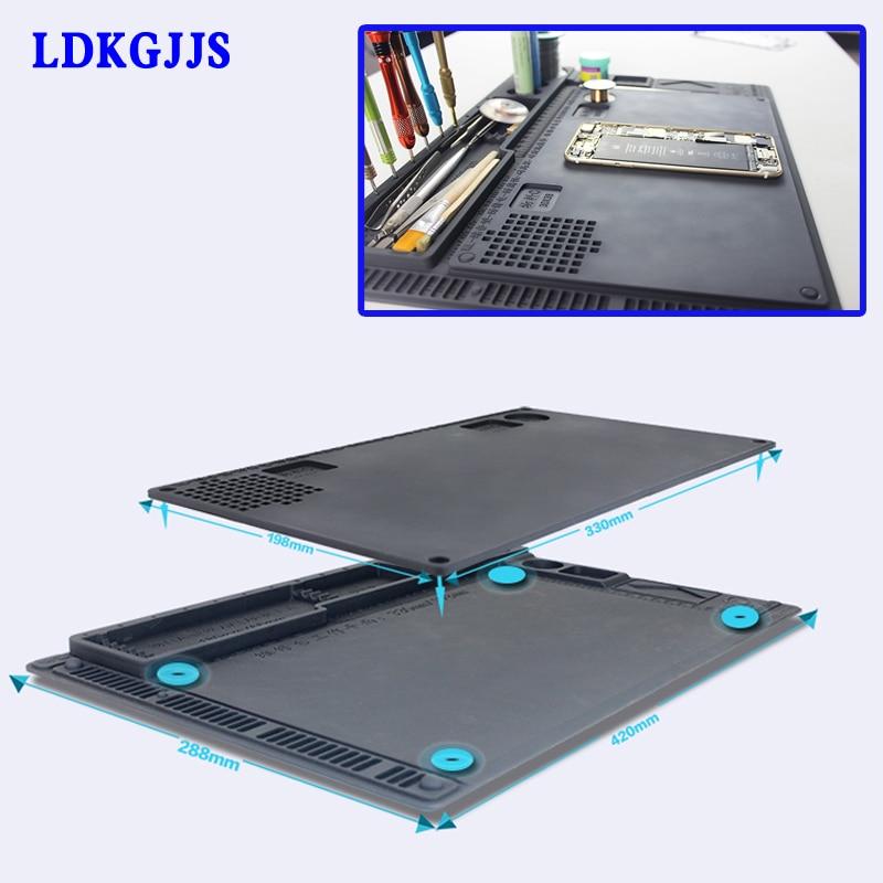 Anti-static Electronic Maintenance Platform Table Pad ESD Heat Insulation Silicone Mat For Phone BGA Soldering Repair Tools