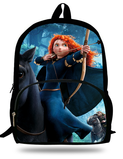 7f4f5db532b2 16-inch Mochila Merida Brave Kids Backpack Children Cartoon Merida School  Bags For Teenage Girls Bolsa Infantil Menina