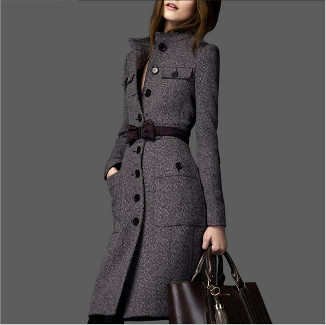 Popular Belted Tweed Coat-Buy Cheap Belted Tweed Coat lots from