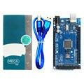 Mega 2560 R3 Board 2012 Versão Offcial com ATMega 2560 Chip ATMega16U2 para Arduino Motorista Integrado com Caixa de Varejo e USB