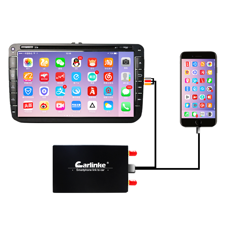Carlinke AirPlay Screen Mirroring Box for iPhone iOS11 Android Screen Miracast / WlAN Display Device Wireless Connection