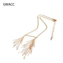 GWACC 2019 NEW Design Gypsophila Tassel Necklace For Women Copper Personality Asymmetrical Statement Fashion Alloy Jewelry boho