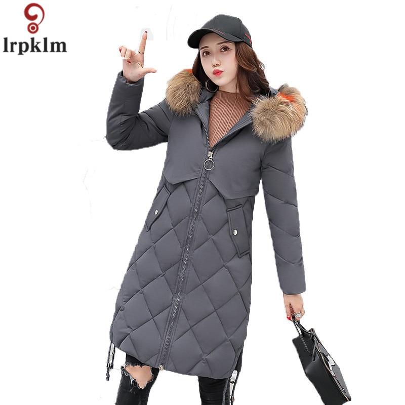 Femme section épaisse chaud à capuche rembourré manteau 2018 nouveaux produits hiver solide coréen mince femmes à manches longues rembourré CH353