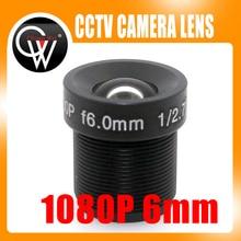 5PCS/LOT MTV 1080P MP 6mm lens IR 1/3″ and 1/4″ F2.0 Lens For CCTV CCD CMOS Security Camera