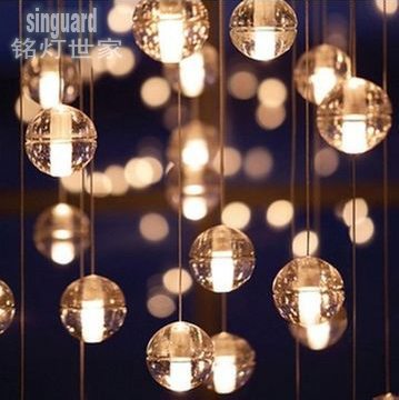 Modern brief led crystal glass ball rain drop pendant lamps modern brief led crystal glass ball rain drop pendant lamps hanging wire light luxury decoration home mozeypictures Image collections