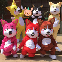 Dog Mascot Costume Pure Color Fancy Outfit Colorful Dog Dress Adult Size Little Colorful Dog