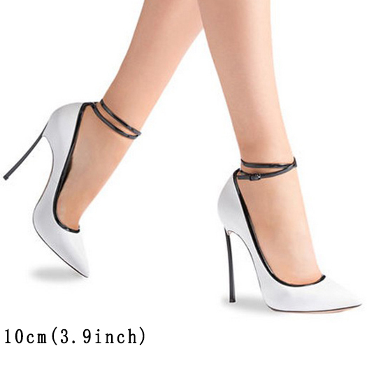 12cm 5 Inch High Heels 10 42 Women Leather Grey Shoes Pointed Toe Crossdresser Scarpin Plus