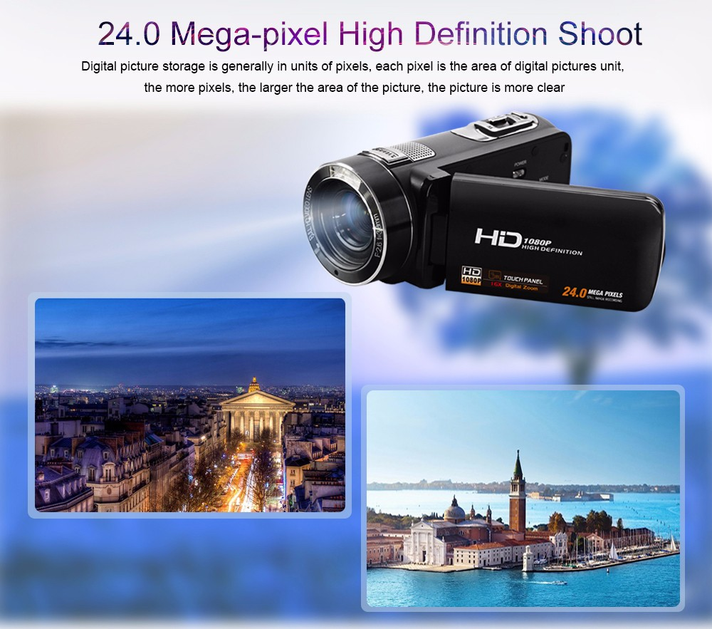 Ordro Camcorder HDV-Z18 Plus 1080P FHD Digital Video Camera Recording with 12X Teleconverter Remote Control HDMI Output 4