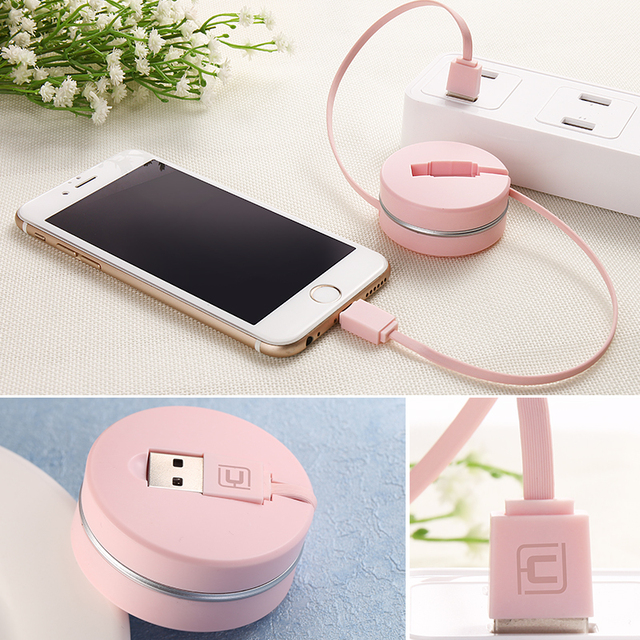 CAFELE Original retractable USB charging Cable For iPhone 7 6s plus 5s SE micro for android Samsung S8 S7 xiaomi huawei HTC