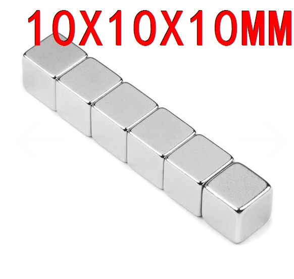 10*10*10 n35 magnet  5 pcs Strong Block Cube Magnets 10mm x 10mm x 10mm Rare Earth Neodymium magnets 10